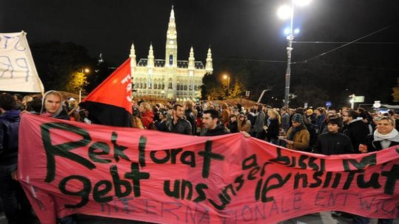 Studentenprotest Österreich Wien