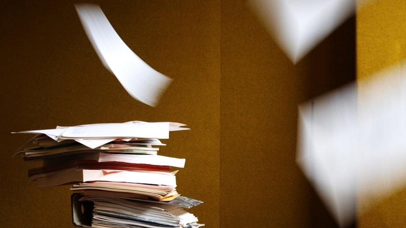 Ein Papierstapel