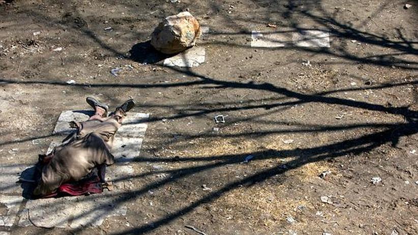 Heroinabhängiger Afghane in Kabul. Immer mehr Menschen konsumieren die Droge