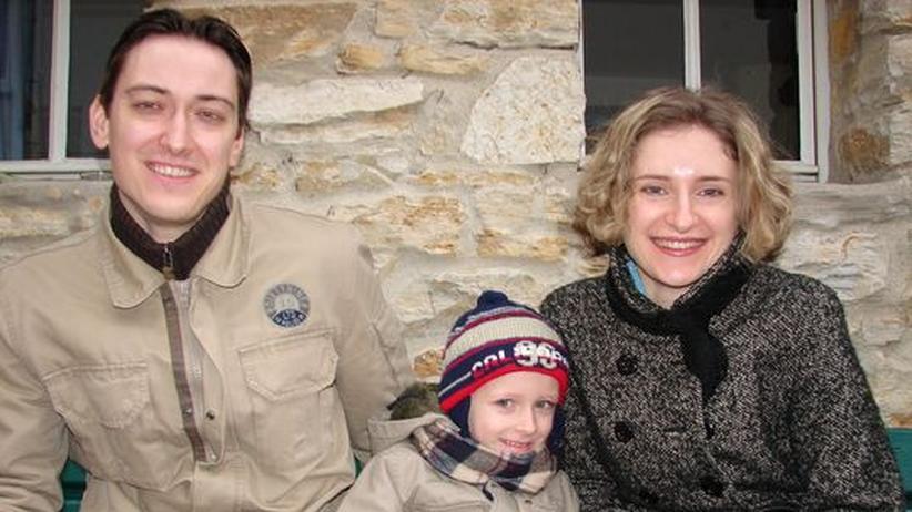 Natallia, Viachellav und ihr Sohn Nikita
