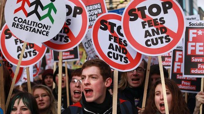 Studiengebühren: Studenten in London demonstrieren gegen die Erhöhung der Studiengebühren
