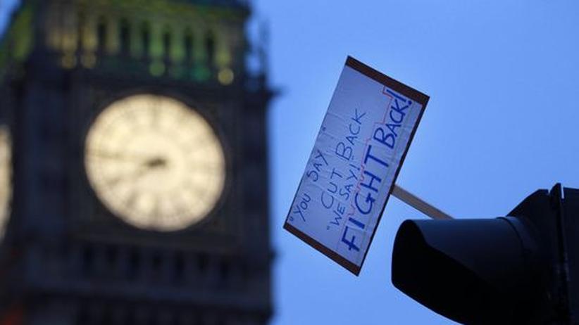 Studentenprotest in London