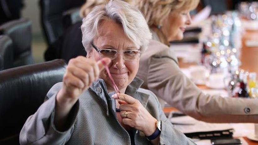 Bundesforschungsministerin Annette Schavan Bundestag