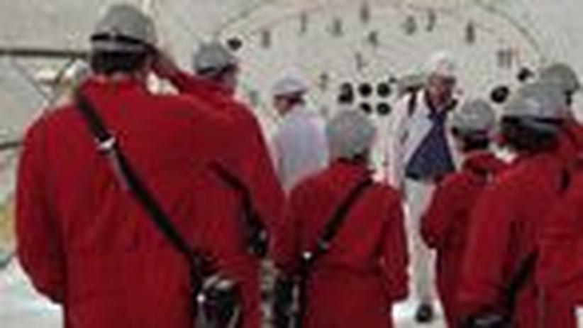 Studenten des Masterstudiengangs Nuclear Safety Engineering der RWTH Aachen im Erkundungsbergwerk in Gorleben