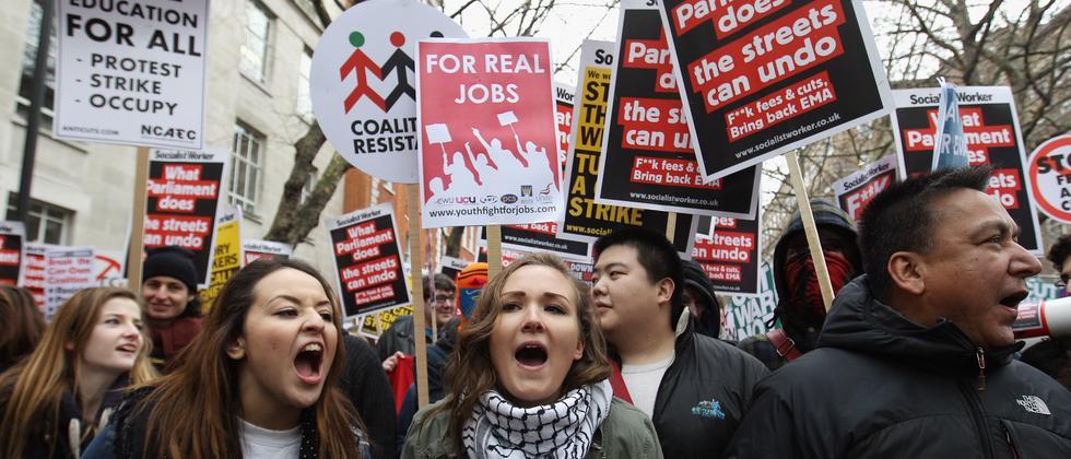 Studentenproteste in England