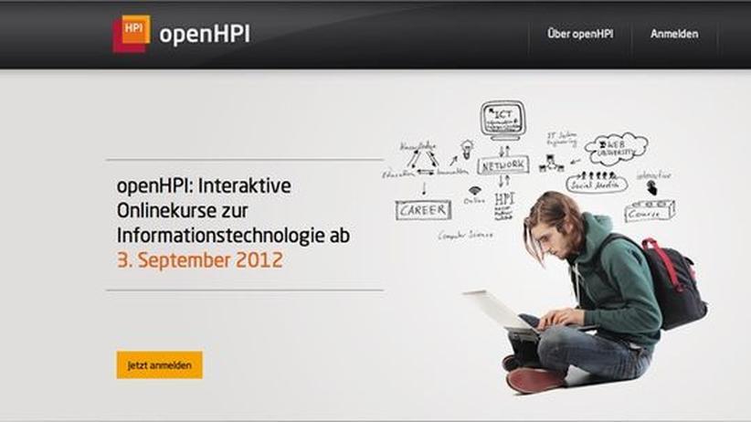 "Online-Lehre: Screenshot der Lernplattform ""openHPI.de"" des Hasso-Plattner-Instituts"