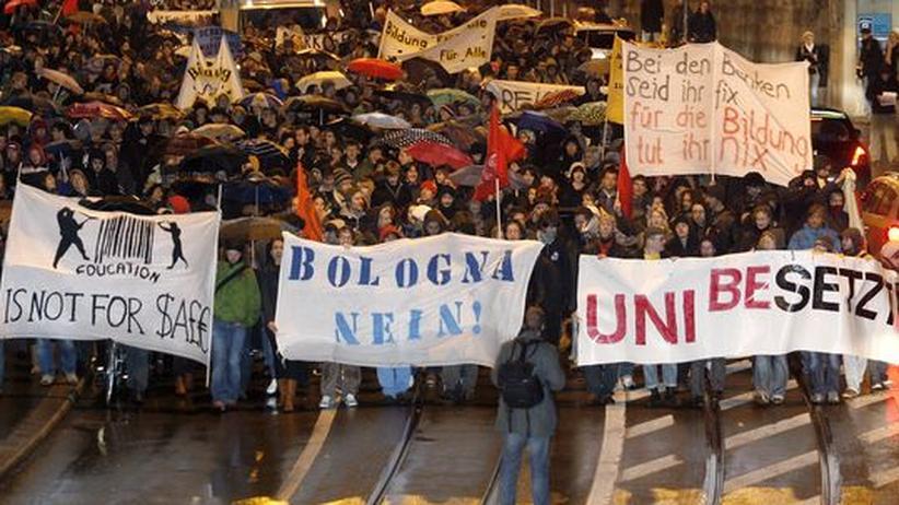 Studienreform: Studenten demonstrieren gegen Bologna-Reform