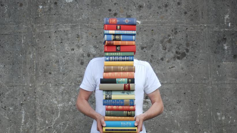 Student mit Büchern