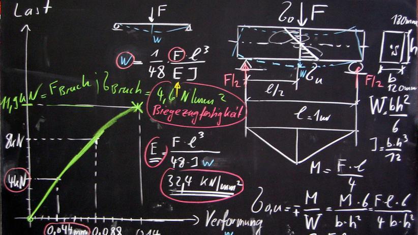Physik Tafel Rechnung