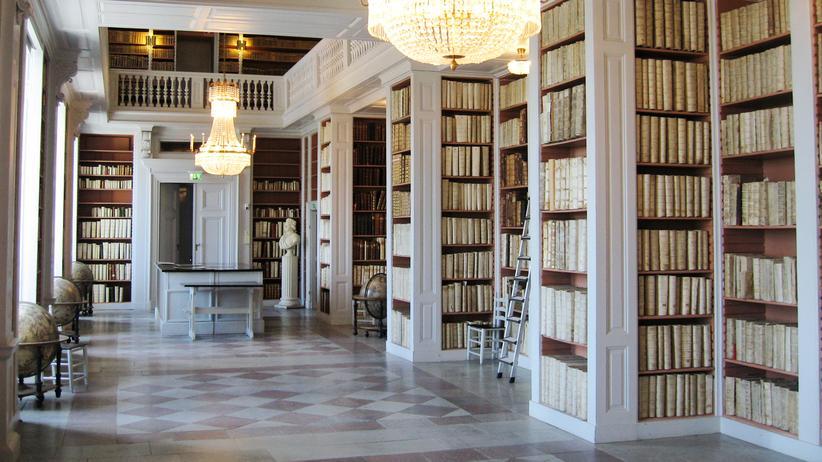 Die Bibliothek der Universität in Uppsala, Schweden.
