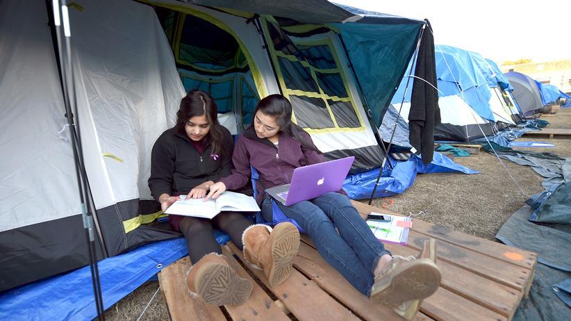 California State University: Studentinnen im US-amerikanischen Bundesstaat North-Carolina