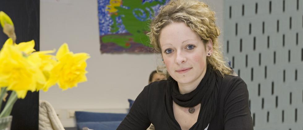 Blieb wach bis zum nächsten Morgen: Tutorin Simone Tschirpke