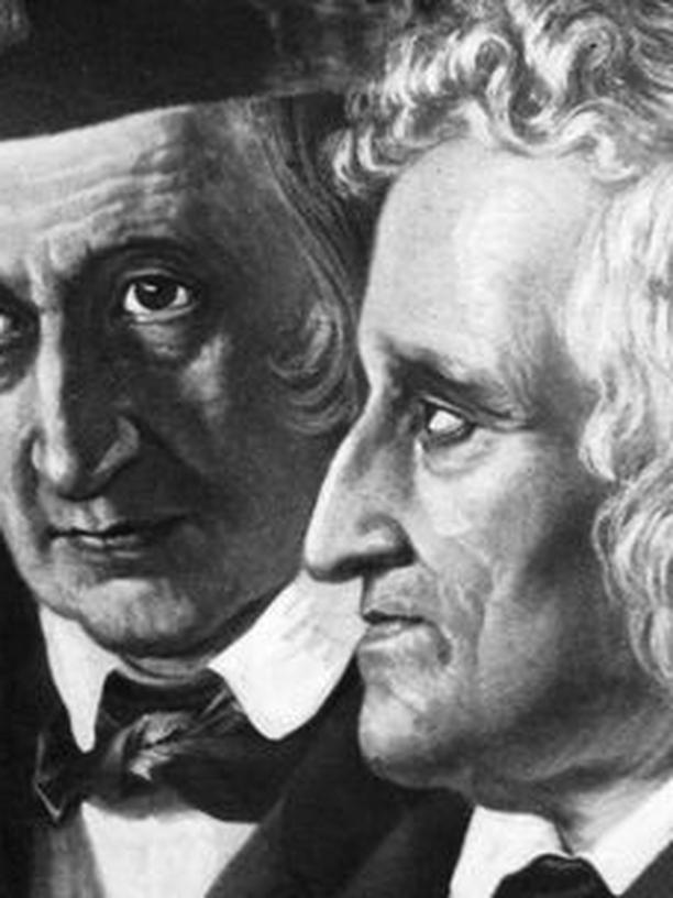 Jacob Ludwig Karl Grimm (1785 - 1863) and Wilhelm Karl Grimm (1786 - 1859)