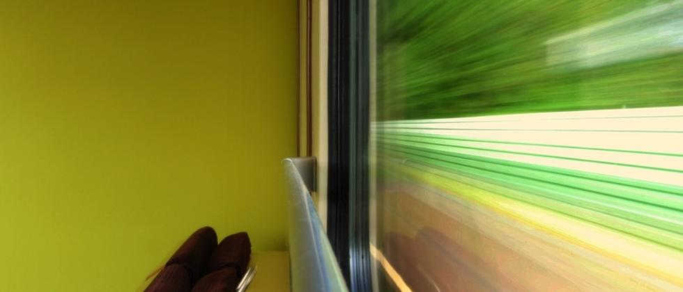 Blick aus Zugscheibe