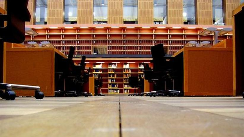 Lesesaal der Dresdner Slub