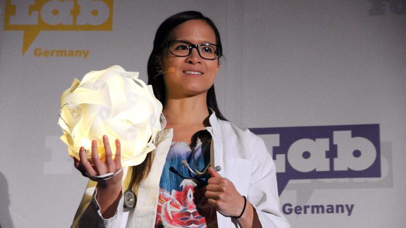 Die Teilnehmerin Tran Nguyen beim Famelab 2013