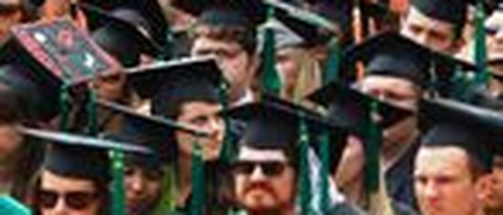 Amerikanische Studenten der Ohio State University in Columbus während einer Universitätsfeier