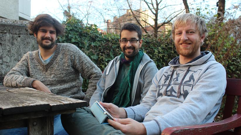 Studentische Gründer: Bernhard Hering, Samy Ateia und Moritz Orendt (v.l.n.r.) haben als Studenten eine Firma gegründet.