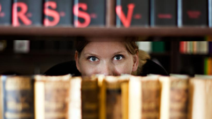 Uni-Bibliothek Lernen Flirten