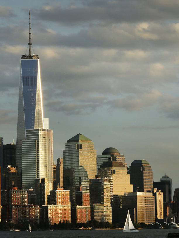 Die Skyline von Manhatten in New York