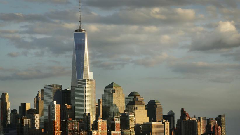 Die Skyline von Manhatten in New York