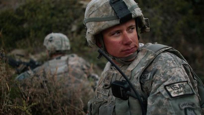 Amerikanische Soldaten auf Patrouille in Afghanistan