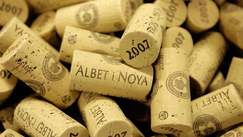 Weinflaschenverschlüsse aus Kork, hier in einer spanischen Variante