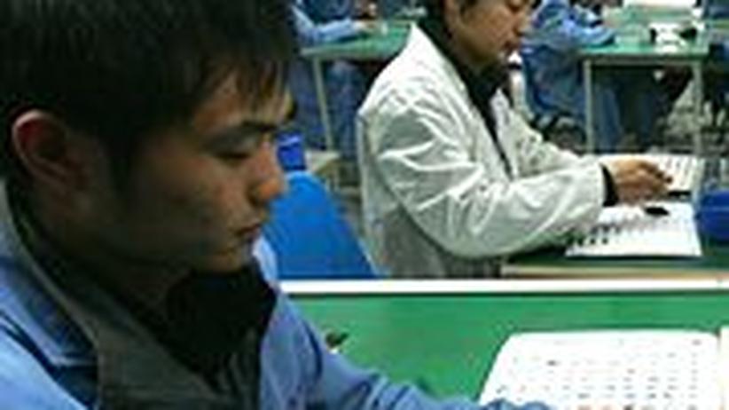 Handyproduktion in Chengdu, China