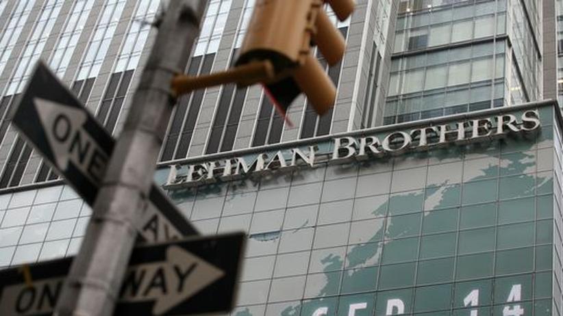 Blick auf die Bank Lehman Brothers