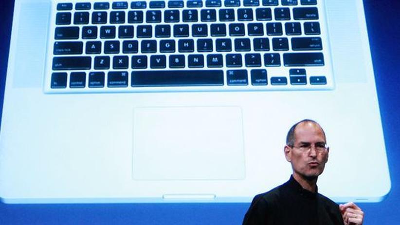 Apple-Chef Steve Jobs bei einer Produktpräsentation