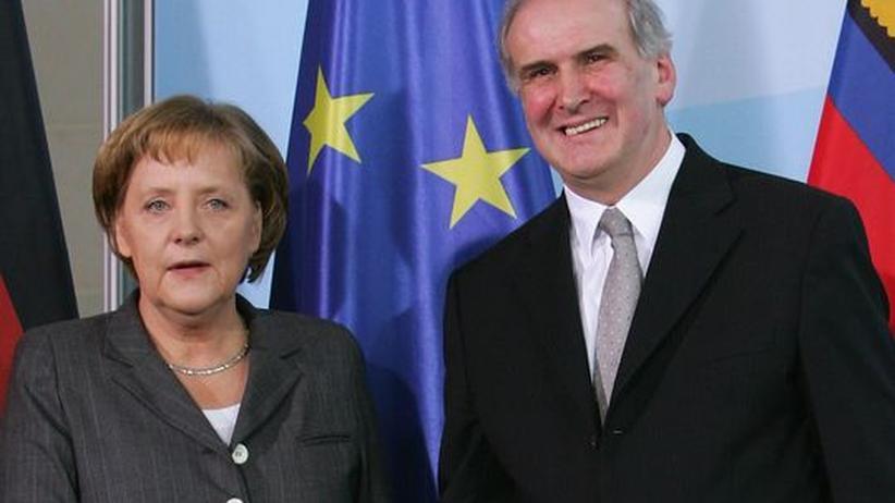 Bundeskanzlerin Angela Merkel und Otmar Hasler, Liechtensteins Premierminister