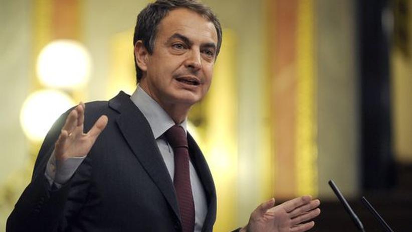 Spanien: Krisengeplagter EU-Präsident: der spanische Premier José Luis Zapatero