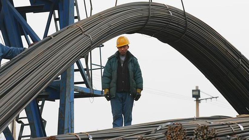 Folgen des Aufschwungs: Ein chinesischer Stahlarbeiter in Shenyang, China
