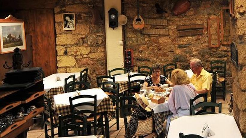 In einer Taverne in Athen