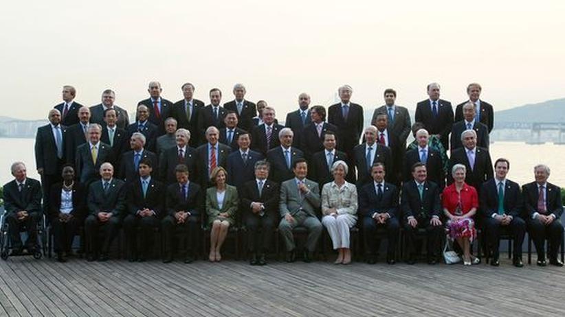 G-20-Treffen in Busan: G 20 uneins über Finanzmarktkontrolle