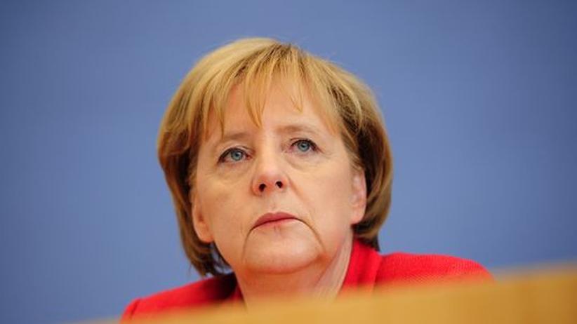 """Koalitionspläne: Ein """"gerechtes"""" Sparprogramm? Bundeskanzlerin Angela Merkel am Montag in der Bundespressekonferenz"""