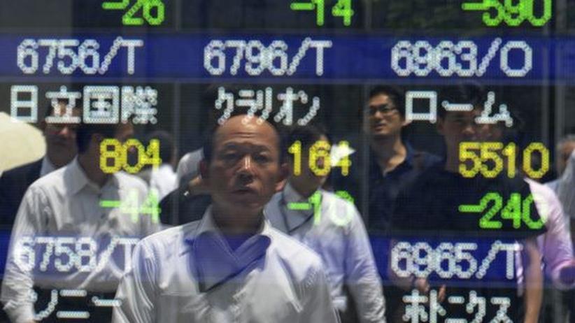 Wirtschaftsdaten: Euro fällt in Fernost, Börse bricht ein