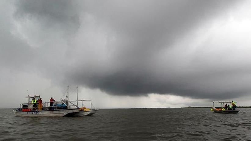 """Golf von Mexiko: Tropensturm """"Bonnie"""" stoppt Kampf gegen Ölpest"""