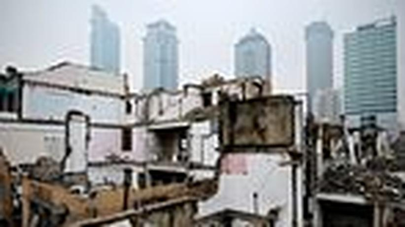 Shanghai: Immobilien aus Pappe für sehr viel Geld