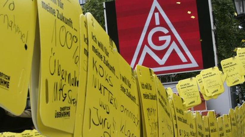 Wirtschaft für Kinder: Großkundgebung der IG Metall in Frankfurt im vergangenen Sommer