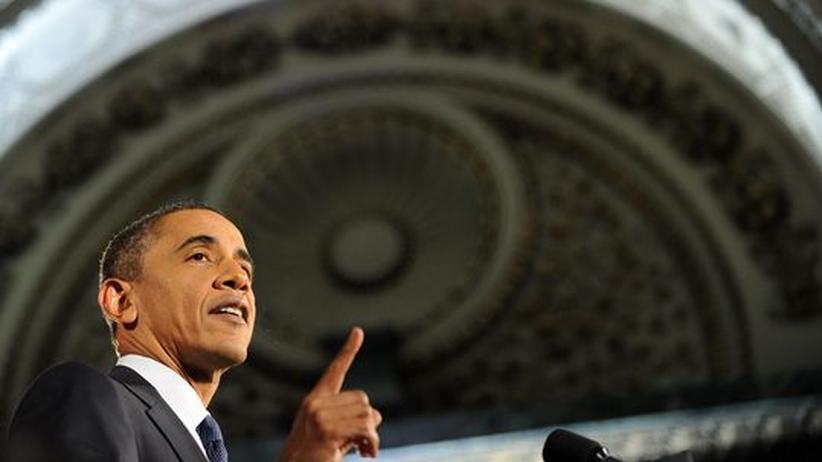 Präsident Obama während einer Rede in Chicago am 5. August