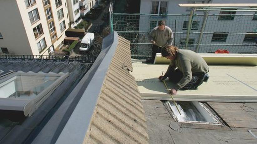 Klimaschutz: Dachsanierung in Frankfurt am Main