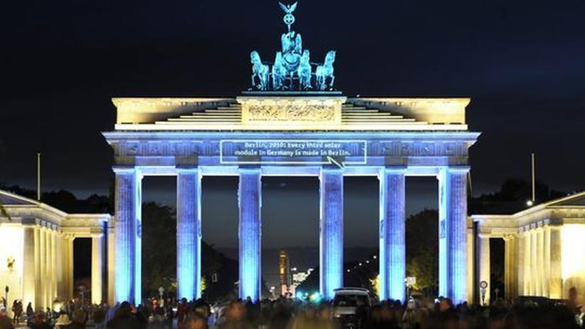Städteranking: Das Brandenburger Tor in Festbeleuchtung