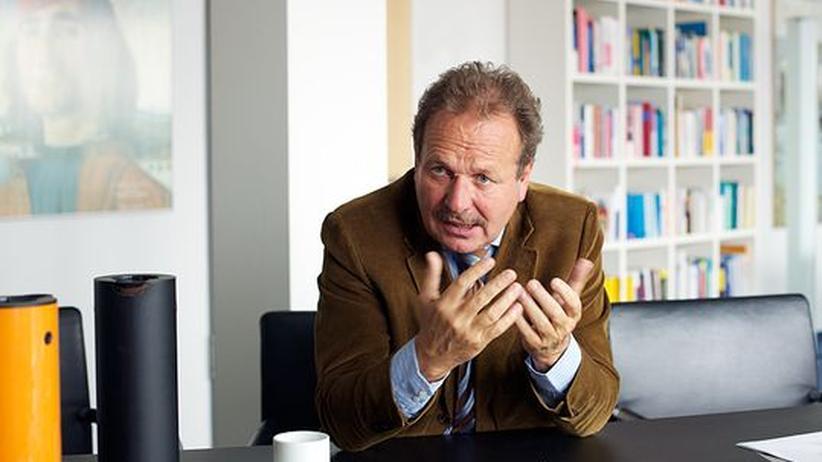 Gewerkschaftsprotest: Frank Bsirske in seinem Berliner Büro