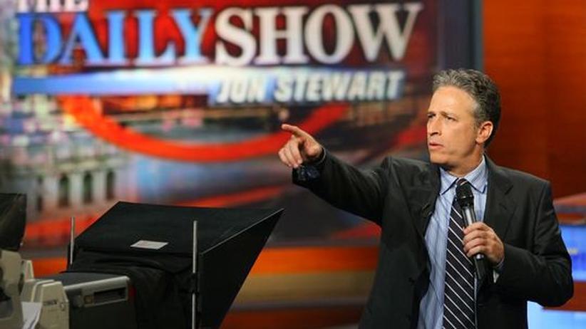 Jon Stewart ist der Kopf der Daily Show beim Fernsehsender Comedy Central