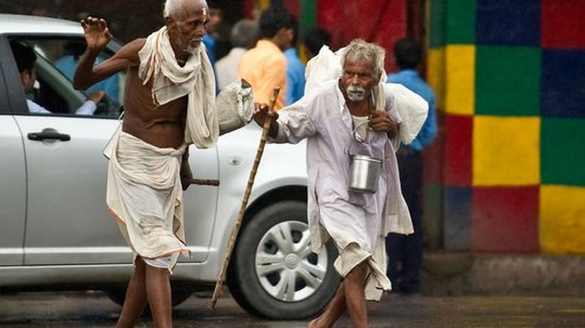 Obdachlose in Neu Delhi
