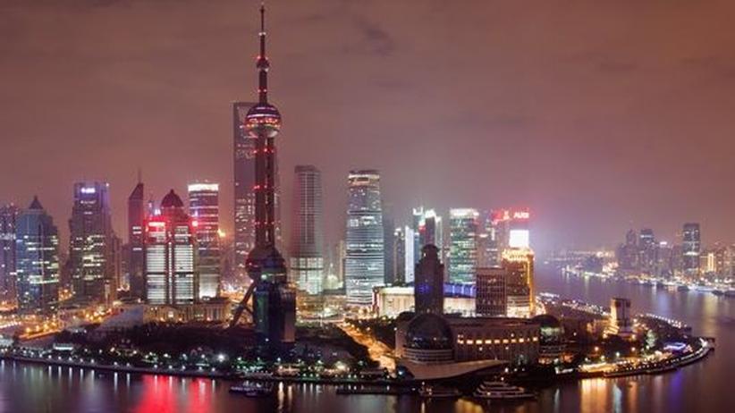 Das Finanzviertel in Shanghai