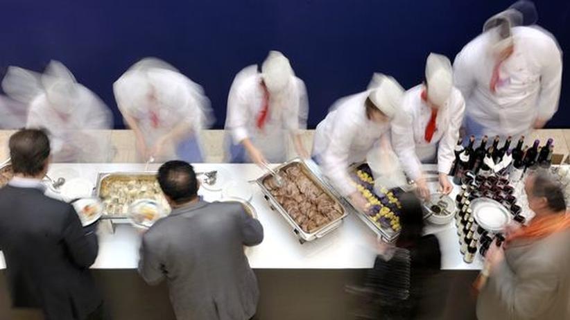 Das große Buffet am Eröffnungstag des World Economic Forum