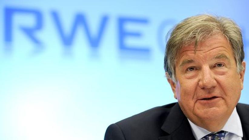 RWE-Chef Jürgen Großmann auf der Jahresbilanzkonferenz seines Unternehmens im vergangenen Februar