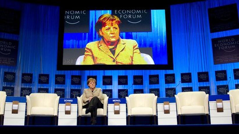 Weltwirtschaftsforum: Bundeskanzlerin Angela Merkel während des Weltwirtschaftsforums in Davos